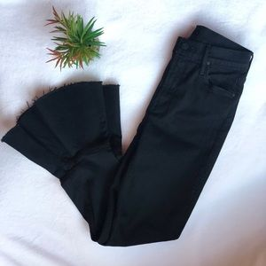 High waisted Mother denim cha cha jeans black